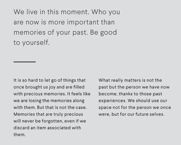 Who you are now is more important than memories of your past.